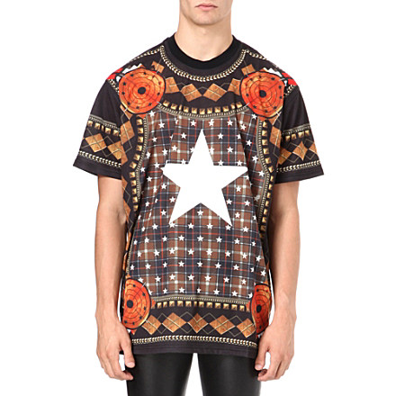 Givenchy Check and Star Print t-shirt, £425, Selfridges