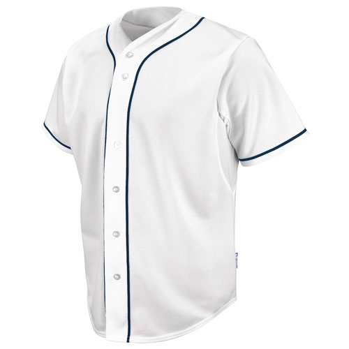 Majestic Athletic White Cool Base HD Navy  Braided Baseball Jersey, £32.00
