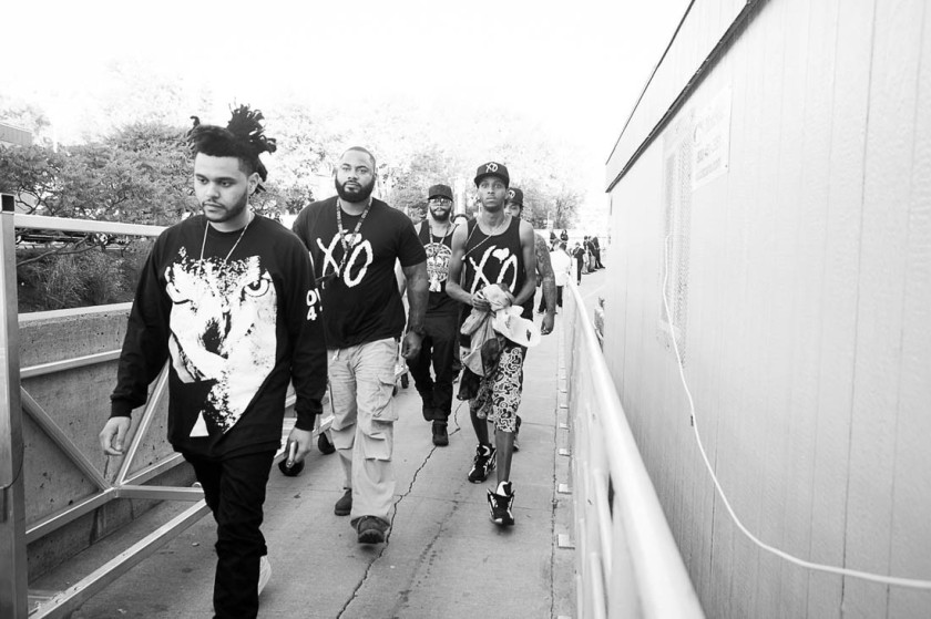 The Weeknd at OVO Fest 2012 www.kanyetothe.com