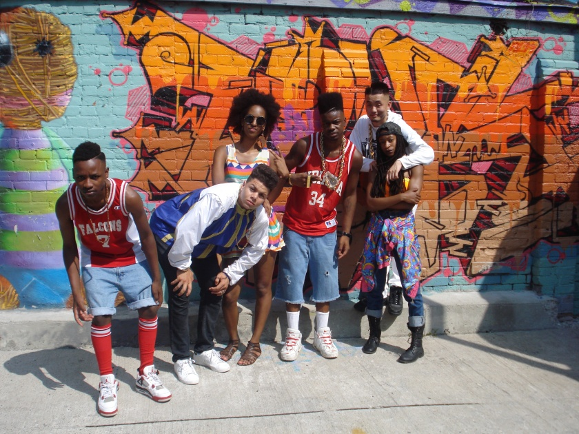 NB this is not the whole crew! From left to right: Rey James, Reckless Murrell, Afroditee, Fine$t GQ, Kenny B Smooth and Precious.